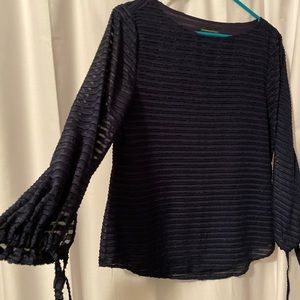Evening/ work blouse navy blue
